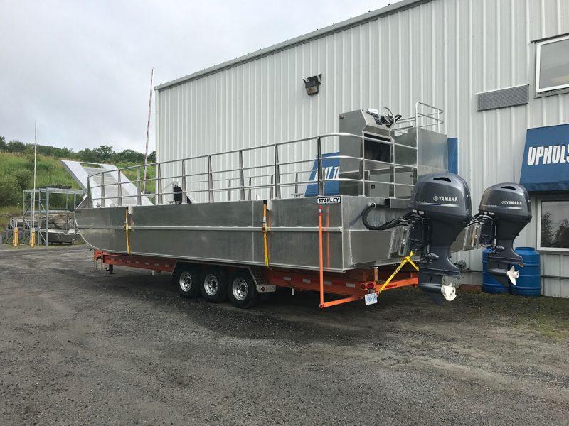 28' Custom Built Trailer - Welded Aluminum Boat Trailer for Flat Bottom Boat